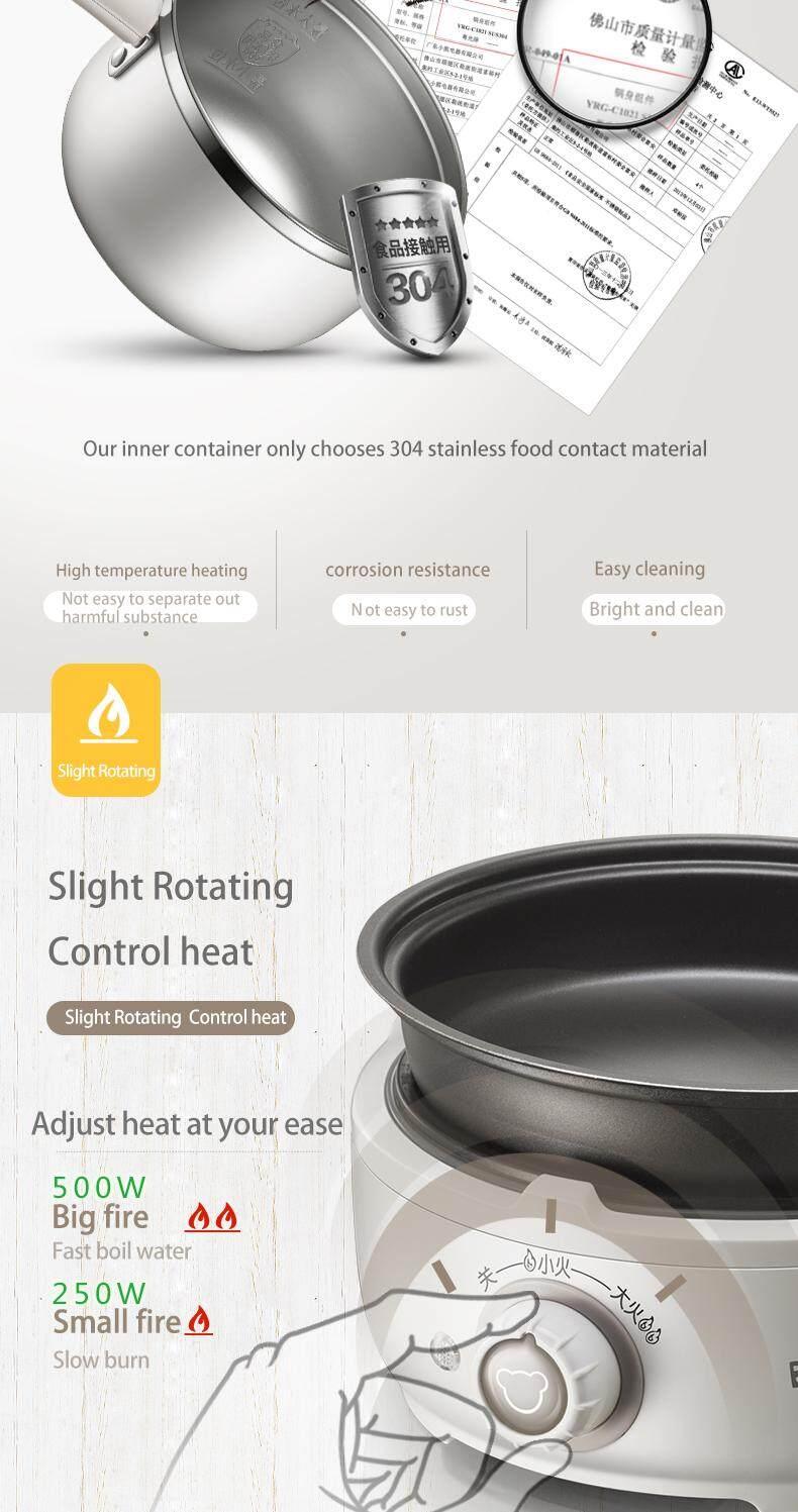 Bear Electric slow Cooker DRG-C12M2 Household Non-stick Pan Split Long  Handle 1 2L 10106C12M2001