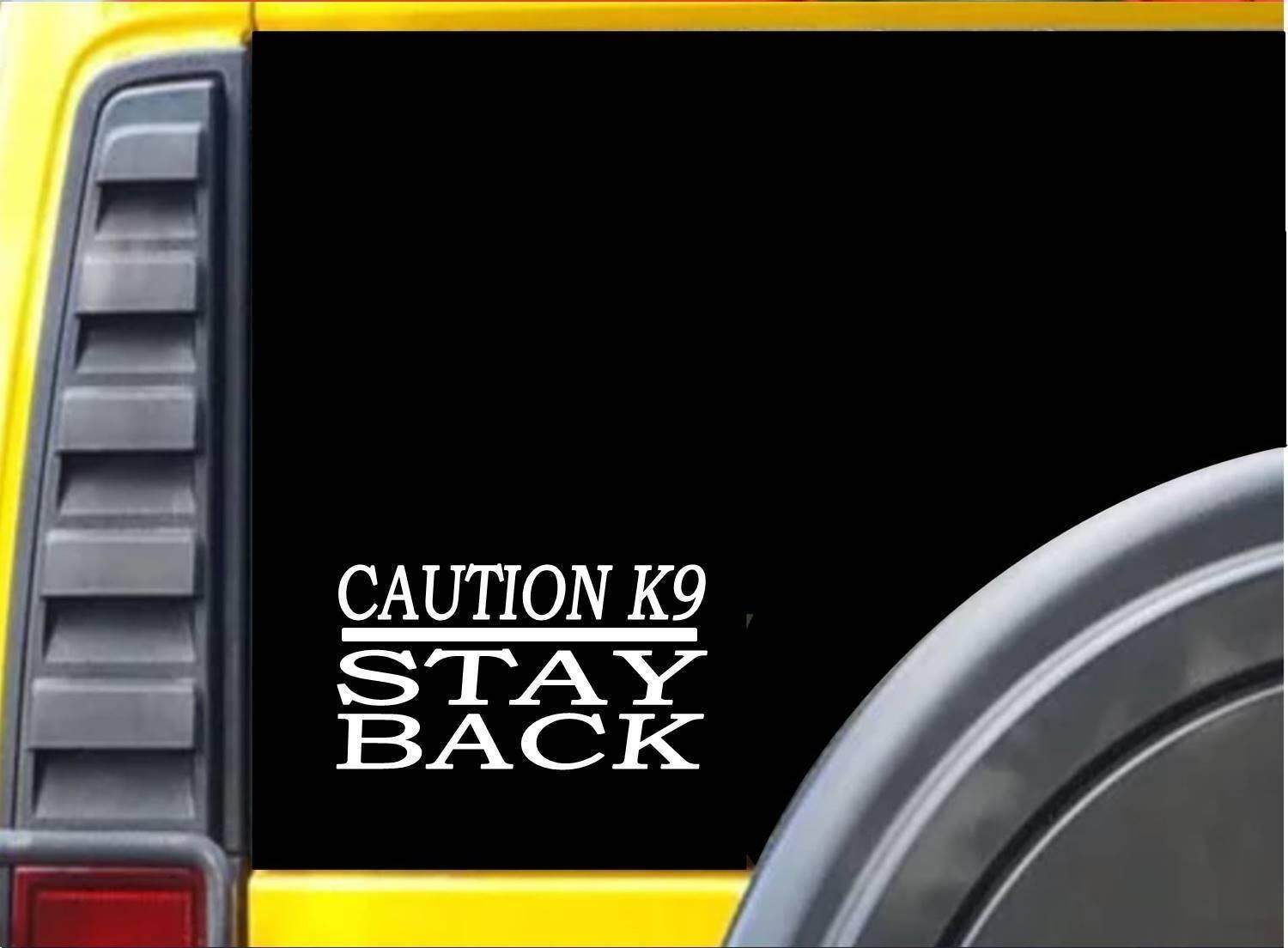 Specifications of caution k9 stay back sticker k213 6 inch malinois german shepherd dog decal car sticker 15cm