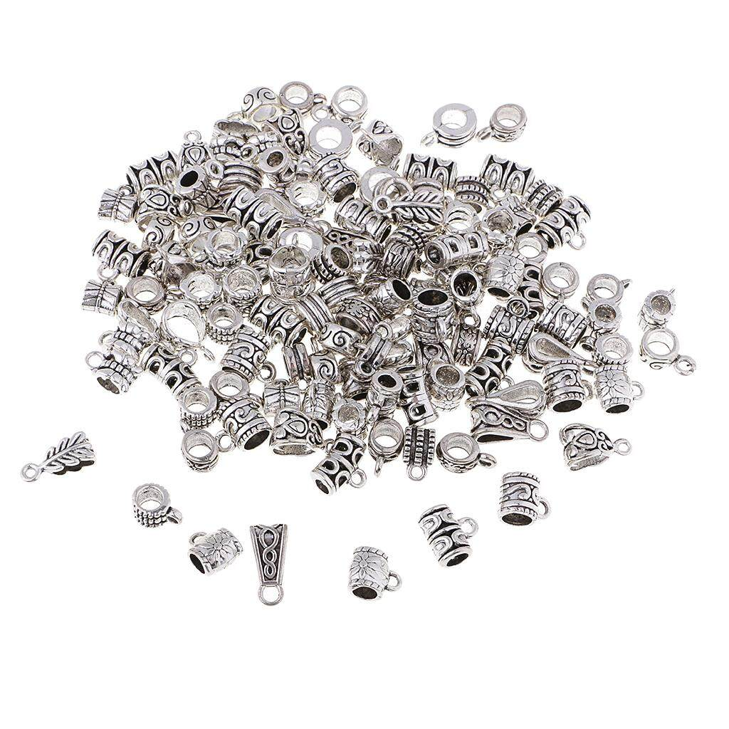 Gift Wholesale Silver Tone Carved Tube Spacer Beads 4x6mm