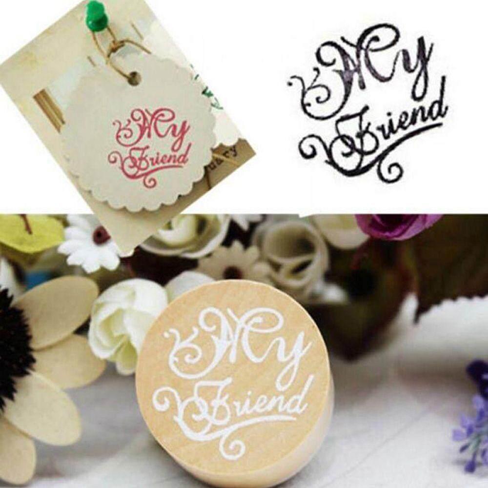 Wooden Rubber Stamp Floral Flower Pattern Photo Album Embossing Letter Stamp
