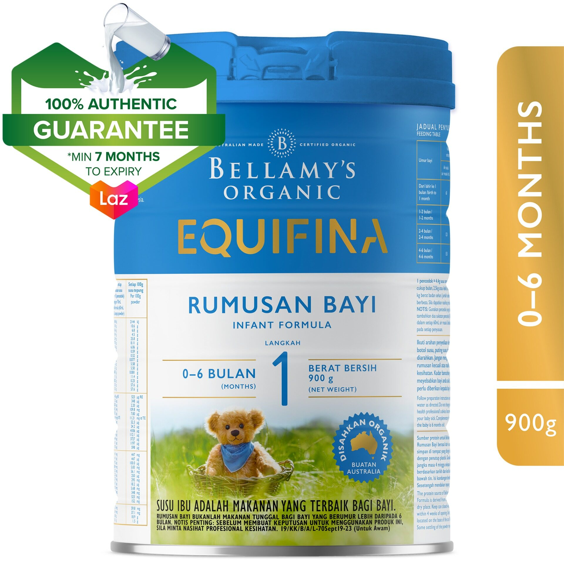Bellamy's Organic Step 1 Equifina Infant Formula