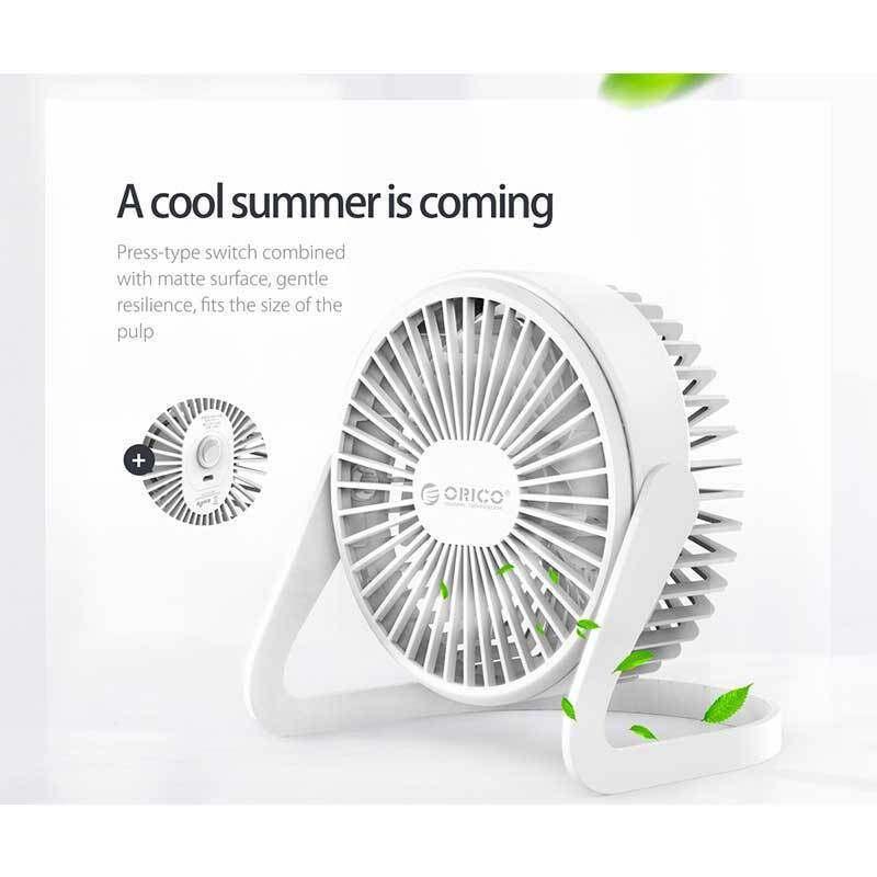 ORICO FT1-2 Mini Desk Fan-White Best for Cooling 6