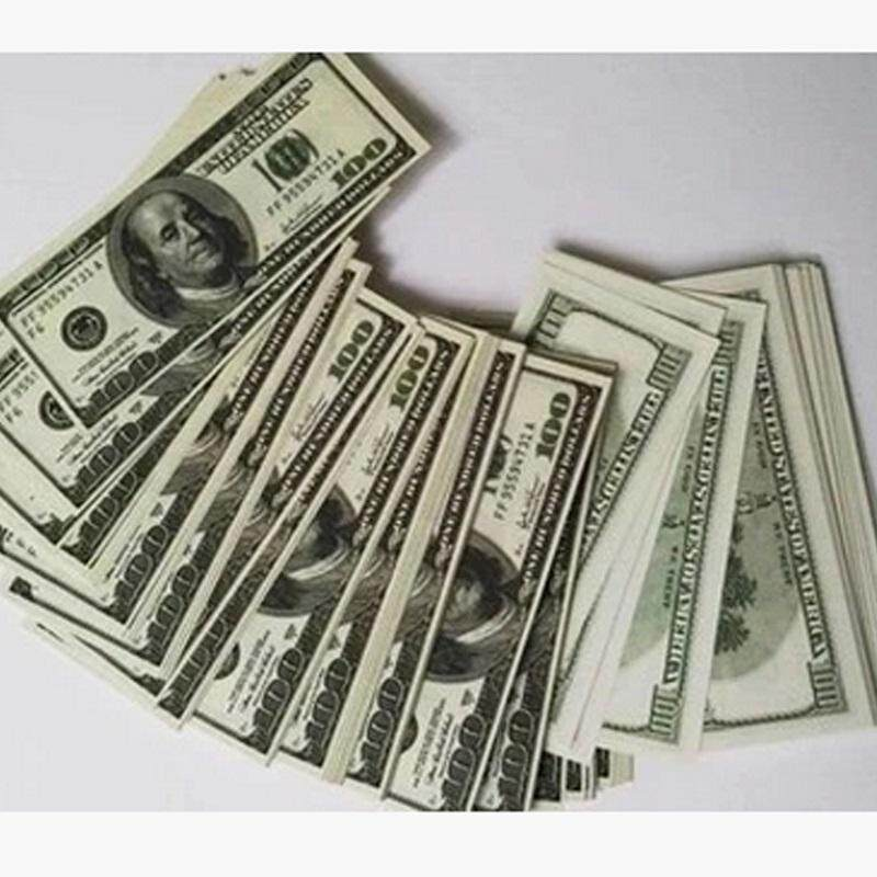 LF party needs50/100Pcs Prop Money 100s Total $10000Full Print Stack for  Movie, TV, Video, Novelty and Photography (Color: Multicolor)