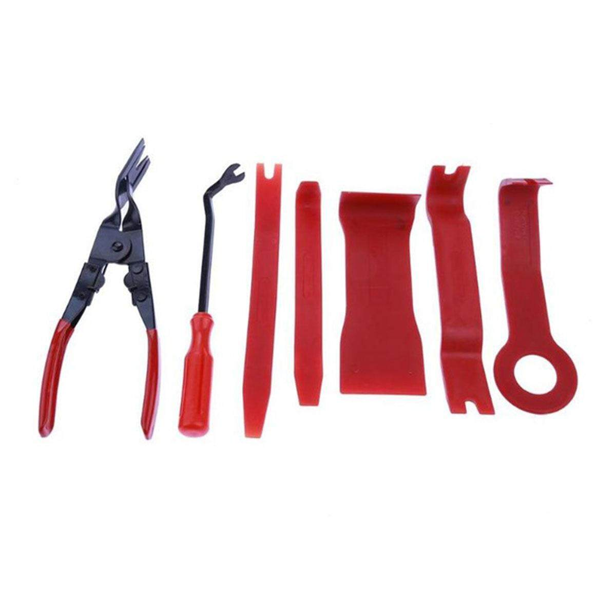 7PCS Car CD Player Disassembly Tools Audio Central Control Panel Door Trim  Clip Removal Pliers Auto Repair Tool Kit