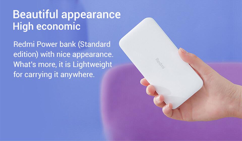 Original Xiaomi Redmi Power Bank 10000mAh Powerbank QC3.0 Portable Charger  2 USB Port Battery Pack External Mi Power Bank 10000 mAh: Buy Sell Online @  Best Prices in SriLanka | Daraz.lk