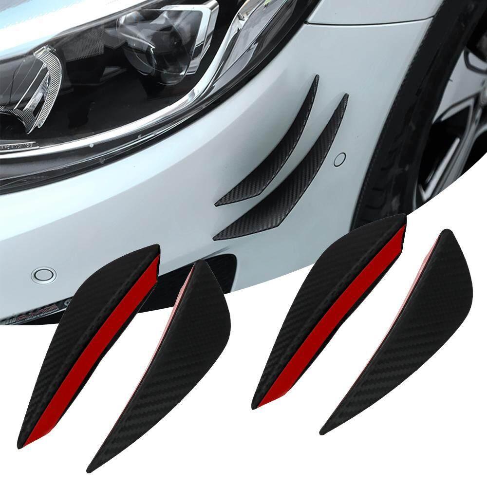 Front or Back Corner Bumper Cover Stickers Protector Guard 3D Black Streamline