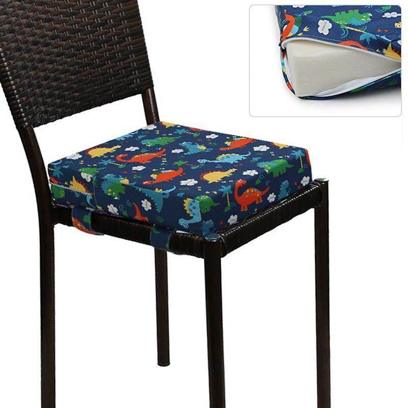 Kids Chair Booster Childrens Heightening Cushion Cotton and Linen Non-slip Design Dining Chair Cushion for Baby Kids