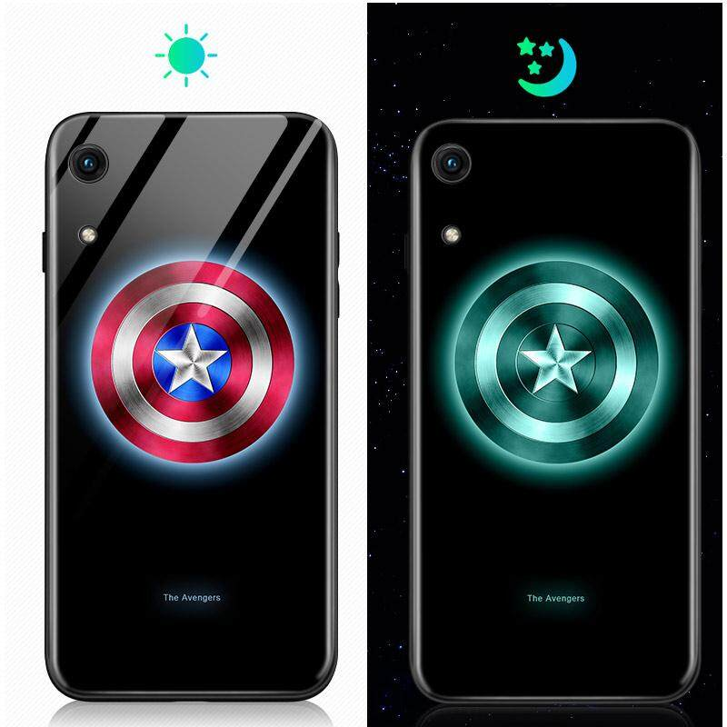 Luminous Marvel Avengers Case Venom Ironman Spiderman Superheroes Tempered  Glass Back Cover For Huawei Honor 8 8A 8C 8Lite Gr3 2017 8X Max Enjoy Max 9