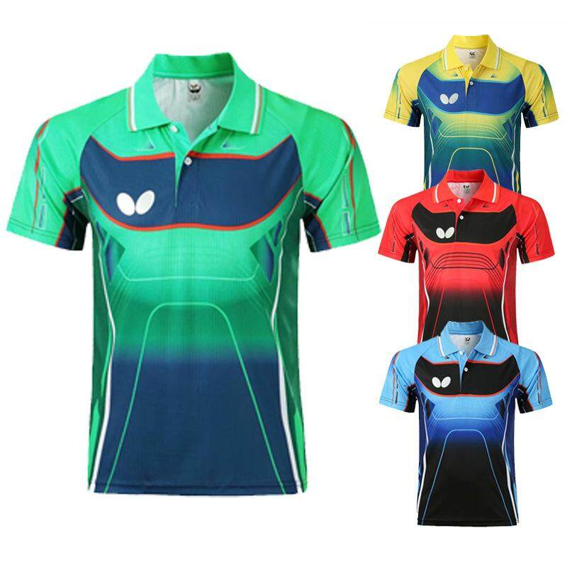 Butterfly Jersey Table Tennis Shirts Sportswear Sports Clothes Breathable Badminton Shirt Uniforms Women Men Ping Pong Gym Training Short Sleeve Sport