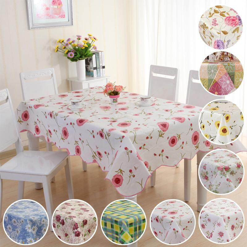 Pvc Table Cloth Cover Home Dining
