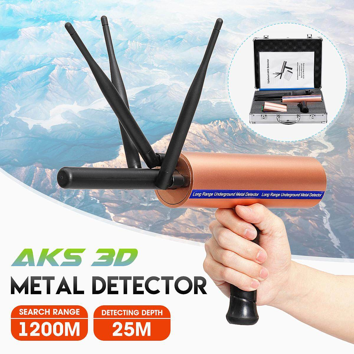EverGood AKS 3D Metal Detector Detective 1200 Meters Long Distance Gold  Treasure Excavator Scanner