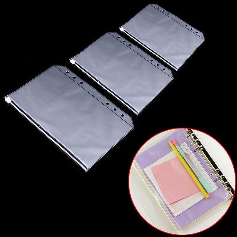 e255a1c70bdb PVC A5/A6/A7 Zipper Bag Transparent Zip Lock Envelope Binder Pocket Card  Bills Bags File Organizer Waterproof Document Pockets for School Office ...