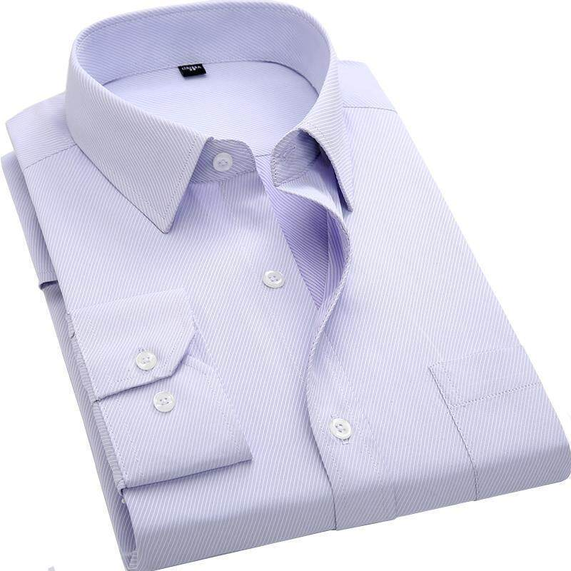 e5bcd6334b8f9 4xl 5xl 6xl 7xl 8xl Large Size Men S Business Casual Long Sleeved Shirt  White Blue Black Smart Male Social Dress Shirt Plus