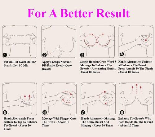 DR-RASHEL Breast Enlarging, Tightening Big Bust Beauty Chest Breast Nourishing skin Augmentation Massage breast Creams 150g | Lazada