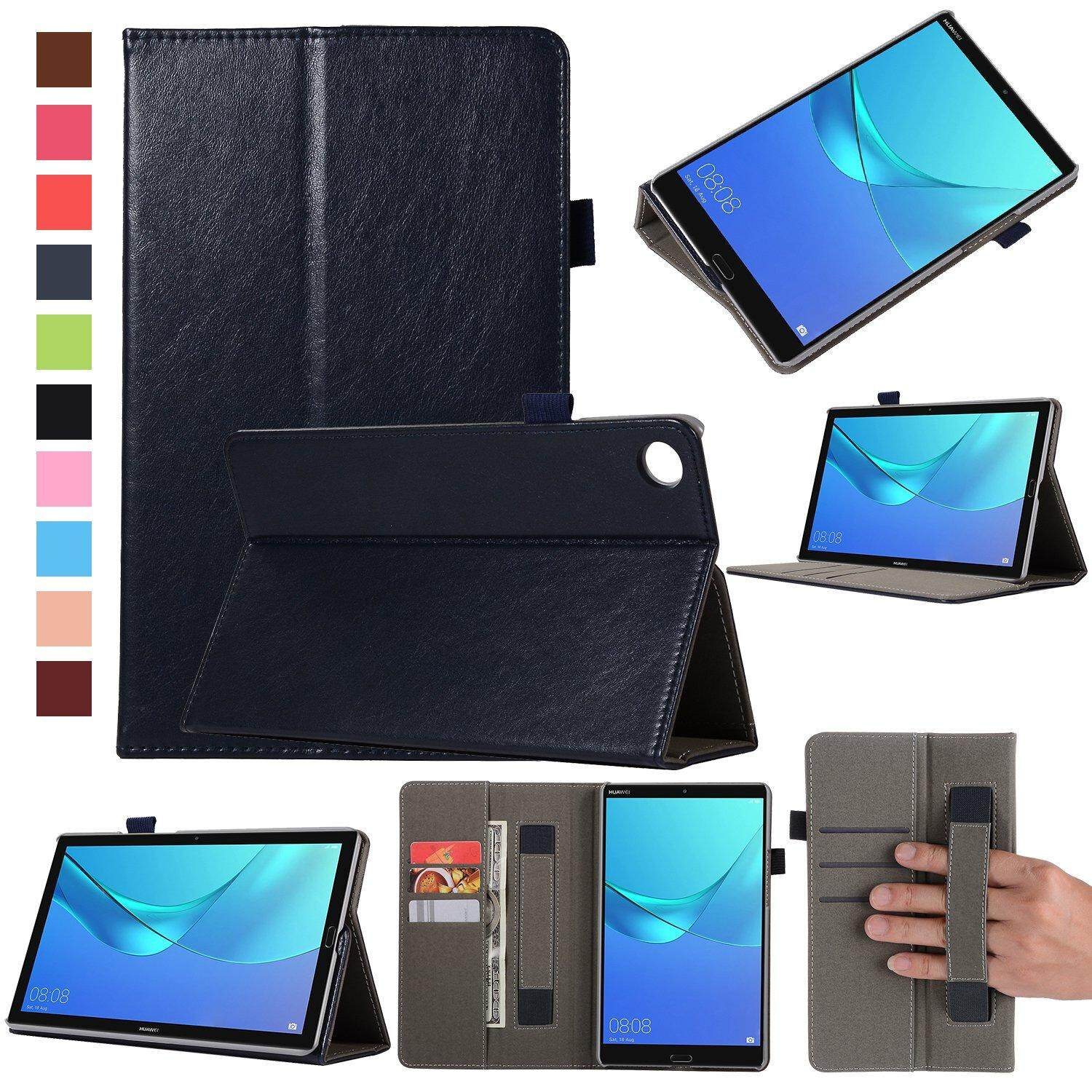 meet 7d2e9 ff149 For Huawei Mediapad M5 8.4 Case, PU Leather Smart Wallet Case with Flip  Stand with Auto Sleep/Wake Function for Huawei Mediapad M5 8.4 inch Tablet  ...