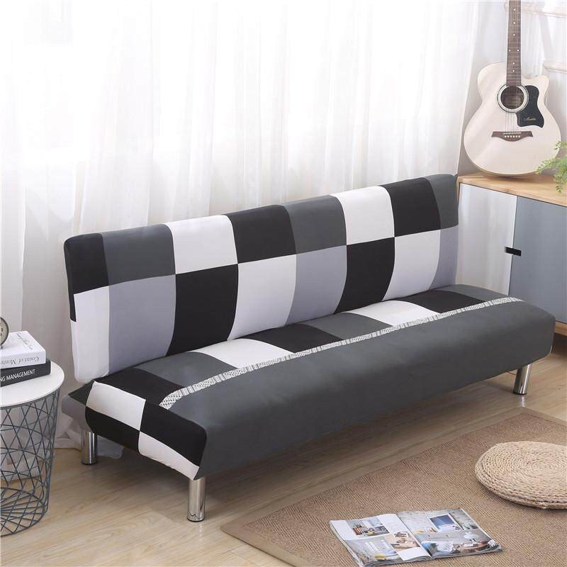Full Folding Armless Elastic Futon