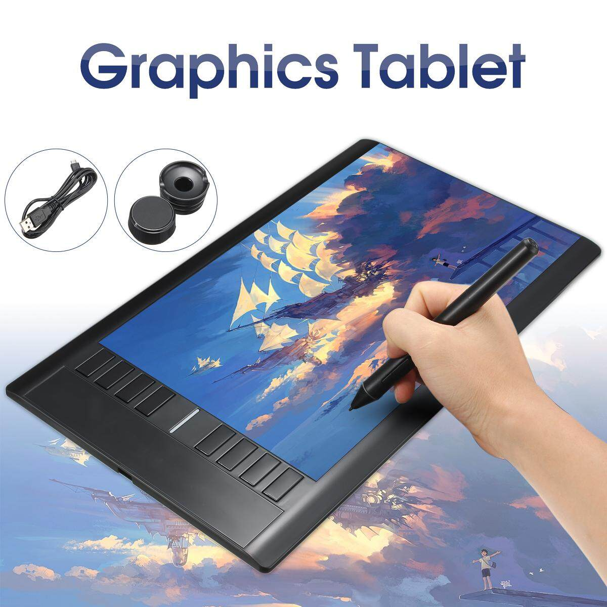 【Free Shipping + Flash Deal】UK UGEE M708 Slim Pro Drawing Graphics Tablet  14x8