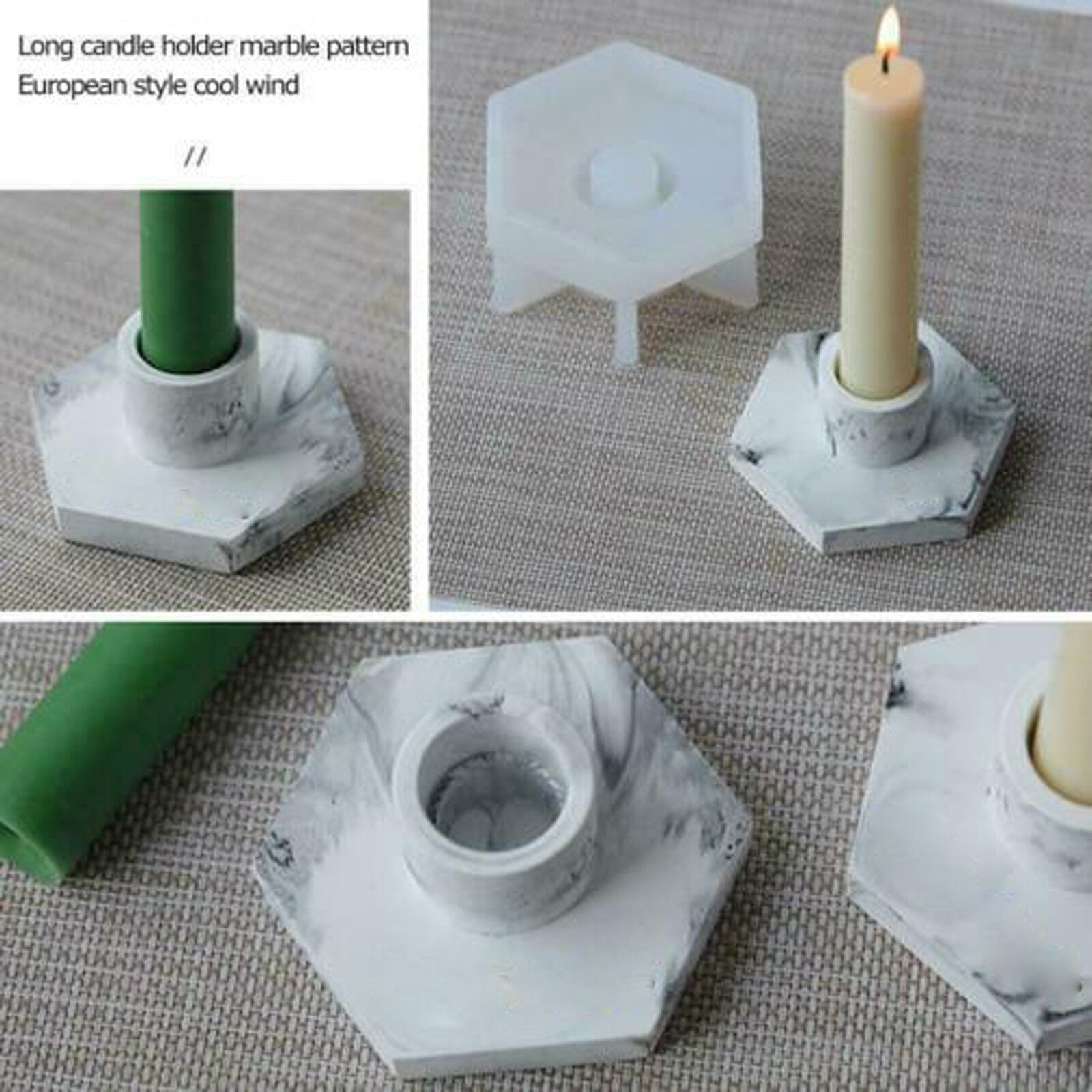 Silicone Candle Holder Mold Resin Making Epoxy Mould Tool Casting Craft W F8r7 Lazada Singapore