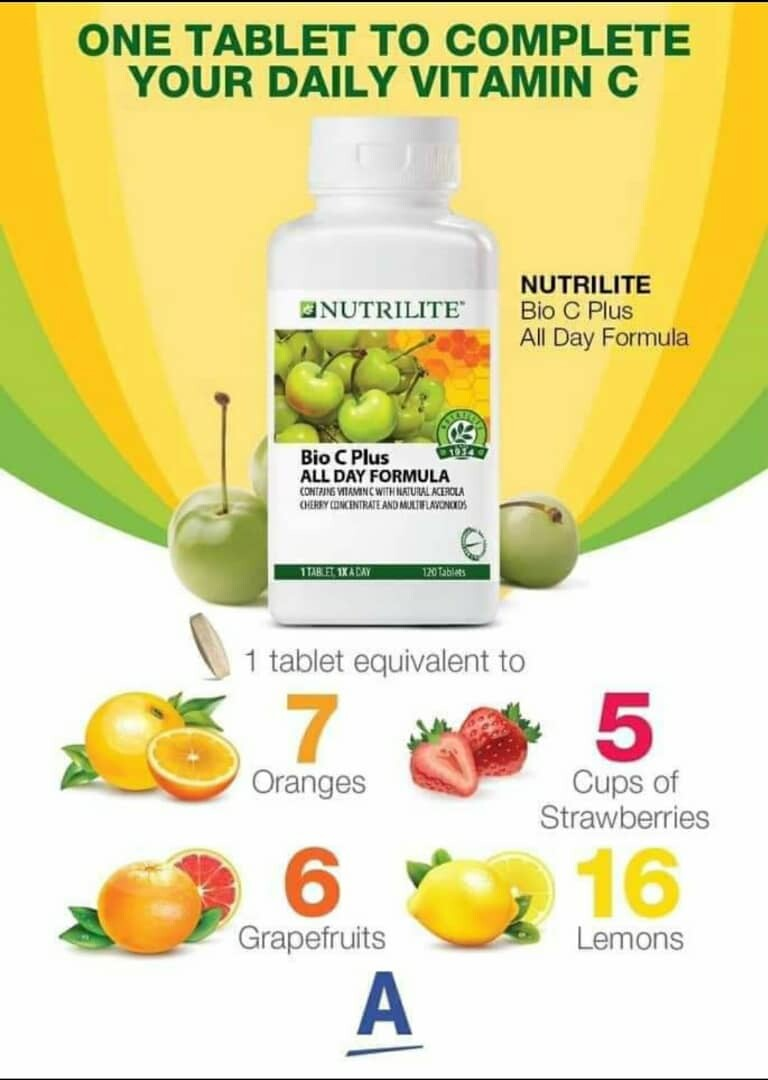 AMWAY NUTRILITE Bio C Plus All Day Formula ( 120 Tablets)
