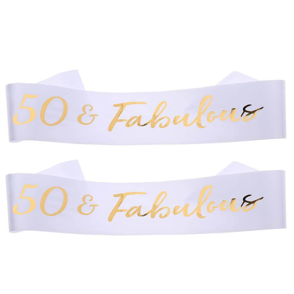 Home Furniture Diy Other Celebrations Occasions 2 X 50 Fabulous Satin Sash Wedding Anniversary 50th Birthday Party Gifts Mtmstudioclub Com