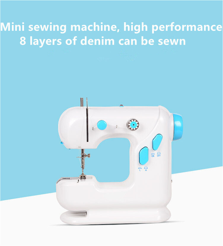 Mini Size Desktop Sewing Machine Double Speed Automatic Thread Light Function