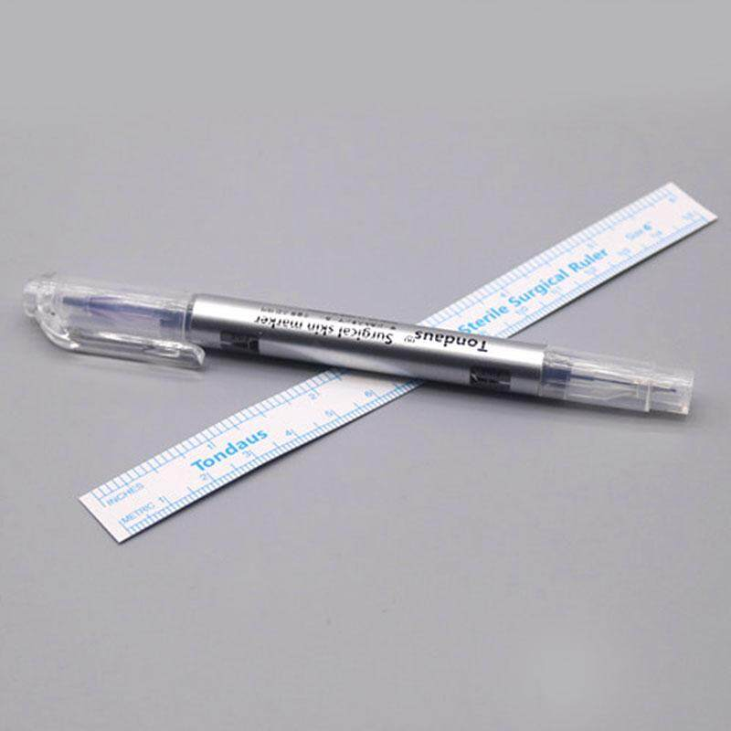 Tattoo Skin Marking Pens Eyebrow Double Heads Fine/Thick Tip Makeup Tools  silver