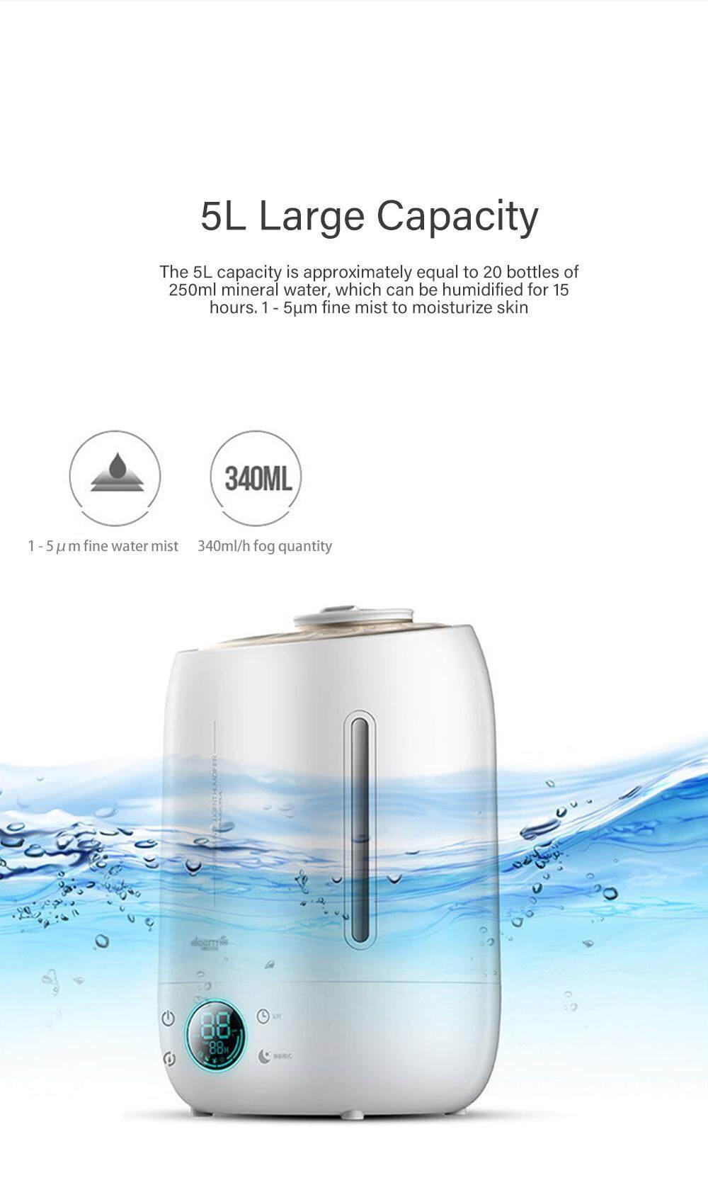 Deerma DEM - F500 Air Humidifier 5L Large Capacity Quiet Aroma Ultrasonic Fog Creator