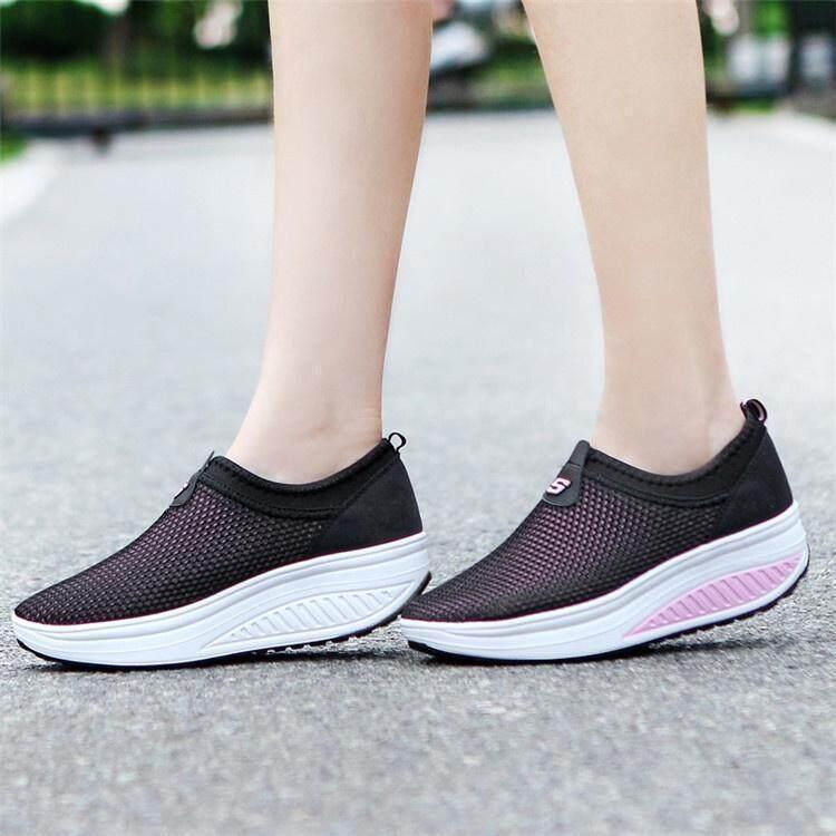 8899f768c7d Women High Platform Shoes Shape Ups Toning Casual Fitness Walking ...