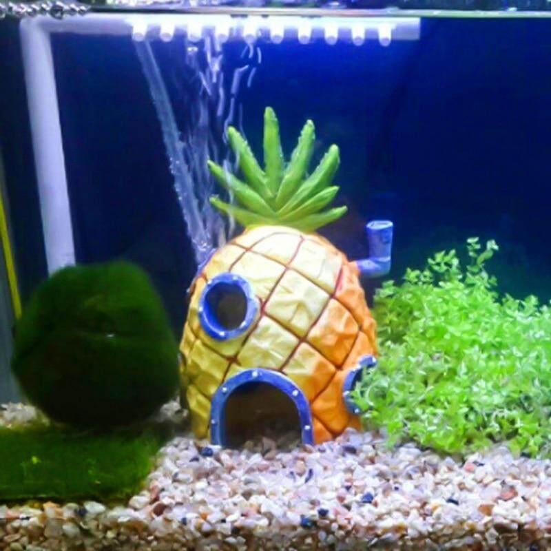 Meiyang 1 Pc Mini Aquarium Untuk Spongebob Dan Patrick Rumah Nanas Kartun Rumah Tangki Ikan Dekorasi Aquarium Lazada Indonesia