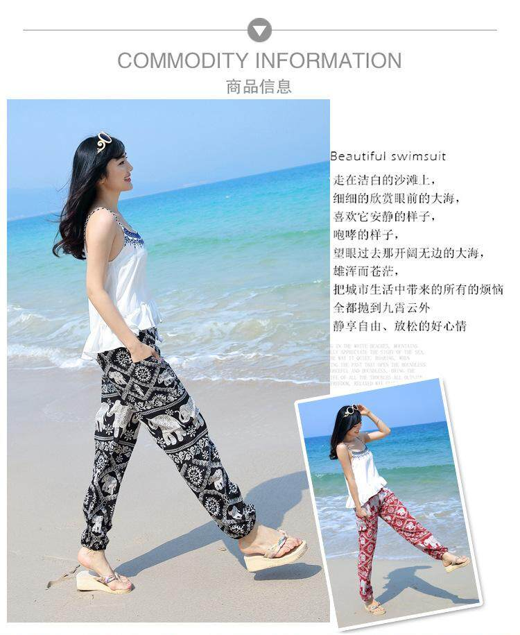 9c390bc496 Thai Yoga Lantern Pants Bohemian loose artificial cotton silk wide ...