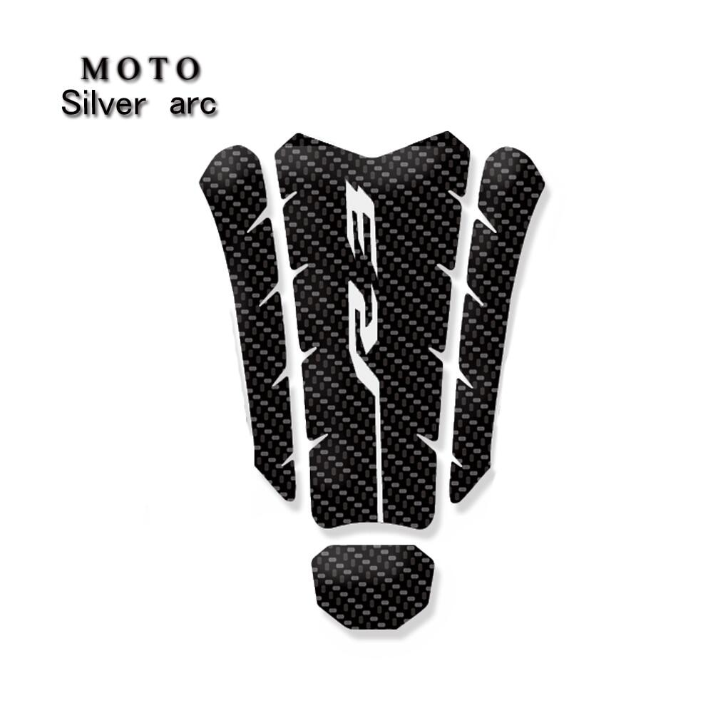 White 3D Scratch Protection Motorcycle Sticker Tank Pad for Yamaha YZF R6