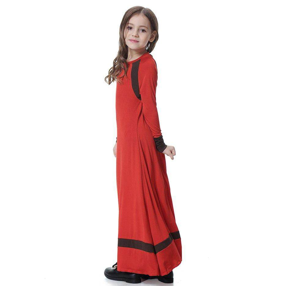 91f5a42c33012 Best Sales Children Abaya Girls Muslim Maxi Dress Long Robe Gowns Kimono  Jubah Ramadan Middle East Moroccan Arab
