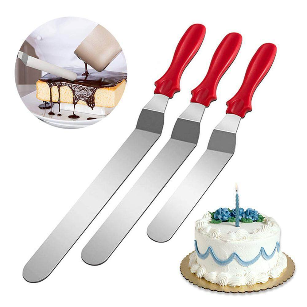 SeaLavender Angled Straight Spatula Icing Cream Spread Cake Decorating  Cutter 3PCS Frosting Spatula,Stainless Steel Offset Spatula,Cake Decorating  ...