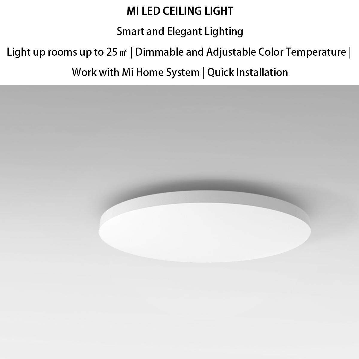 XIAOMI MIJIA Yeelight Led Ceiling 32W Work To Mi Home App For Xiaomi smart  home kits【100% ORIGINAL】