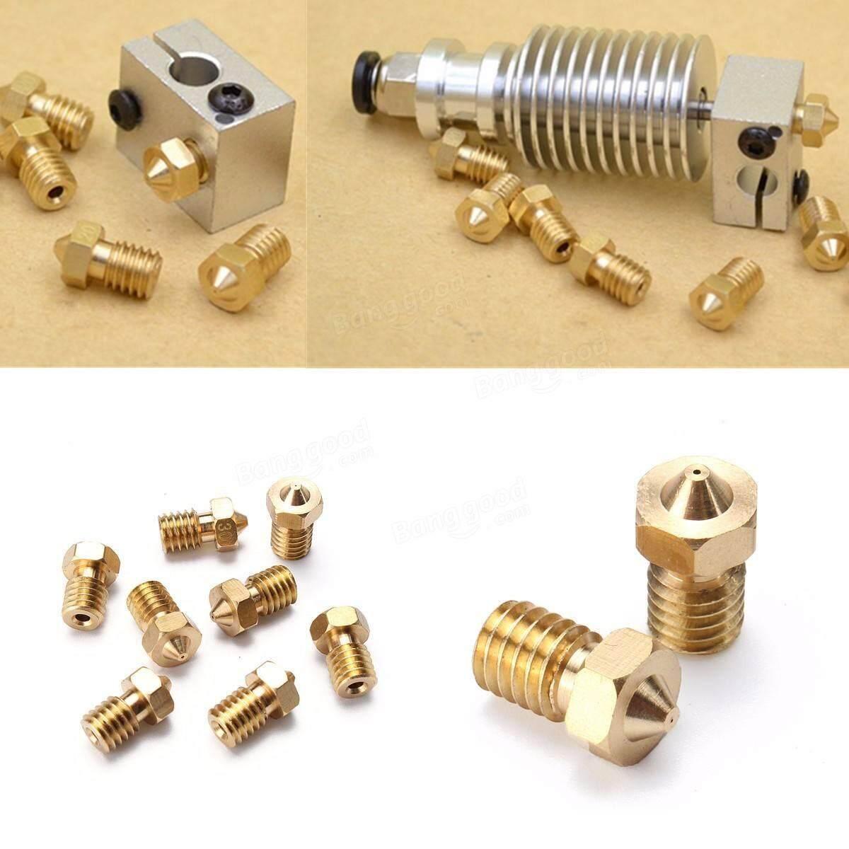 8 PCS 3D J-head Nozzle For 1.75 filament V6 Hotend Extruder Reprap Printer parts