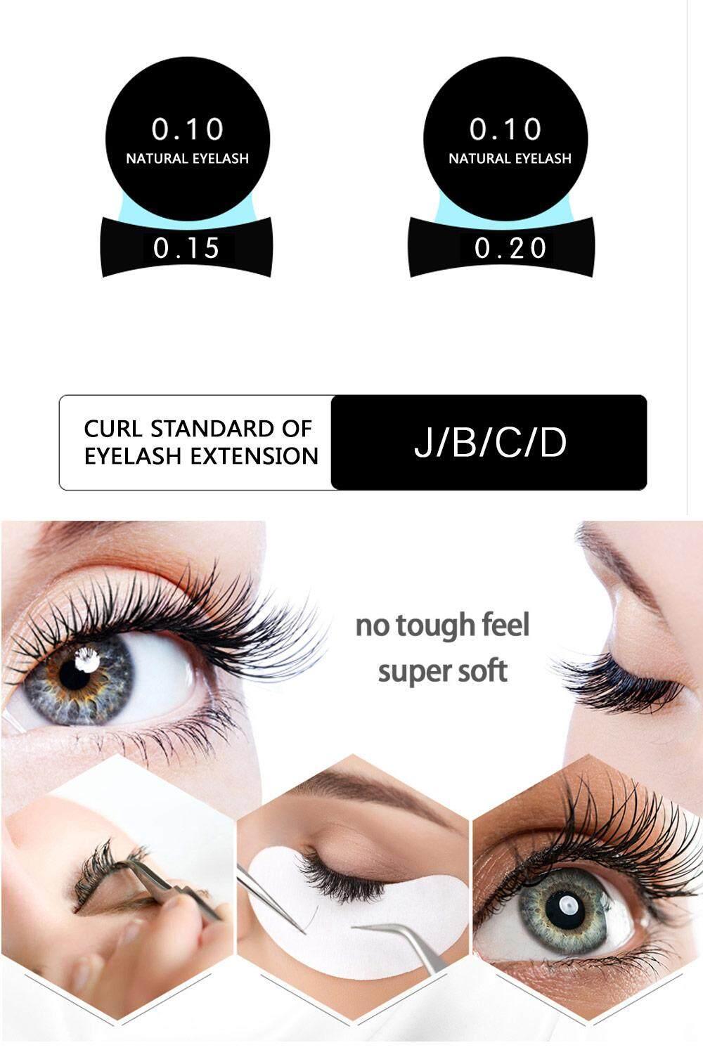 149bbc74476 Specifications of NAGARAKU Flat Ellipse Eyelash Extensions split tips  ellipse shaped soft and natural false eyelash Faux mink 12 lines B C D