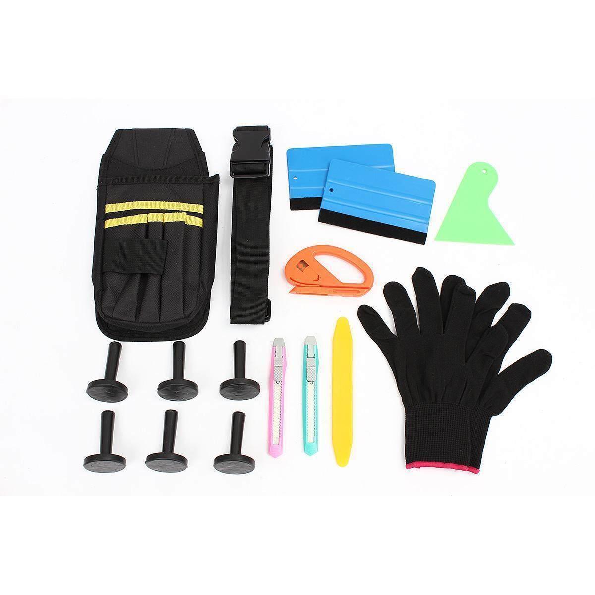 Professional Car Vinyl Wrap Tools Bag Kit Squeegee Razor Cutter Gloves