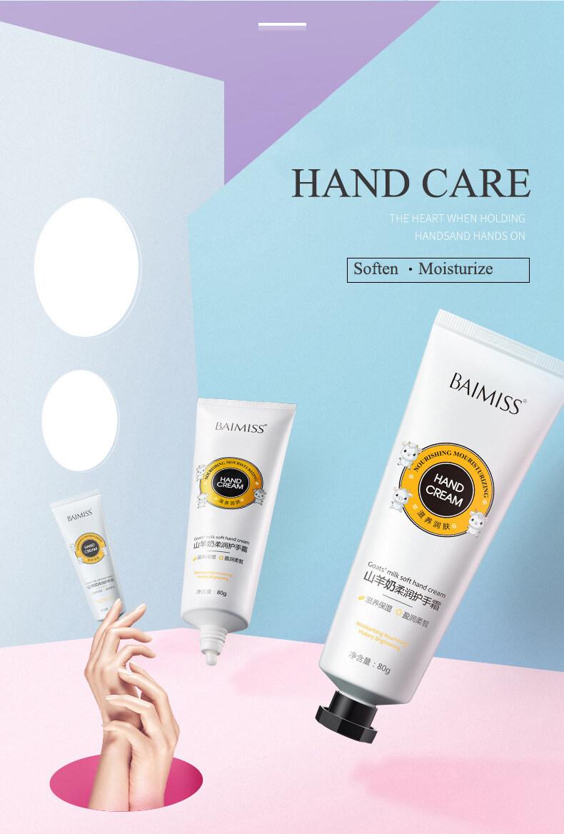 BAIMISS Goat Milk Hand Cream Moisturizing And Rejuvenation Hand Care 2