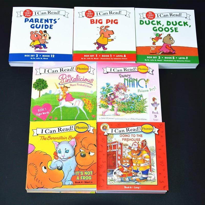 I Can Read 84 English Story Picture Books Phonics Book Illustrated Cartoon  Leaning Reading Baby Cognitive Pocket Books for Kids Children Gifts