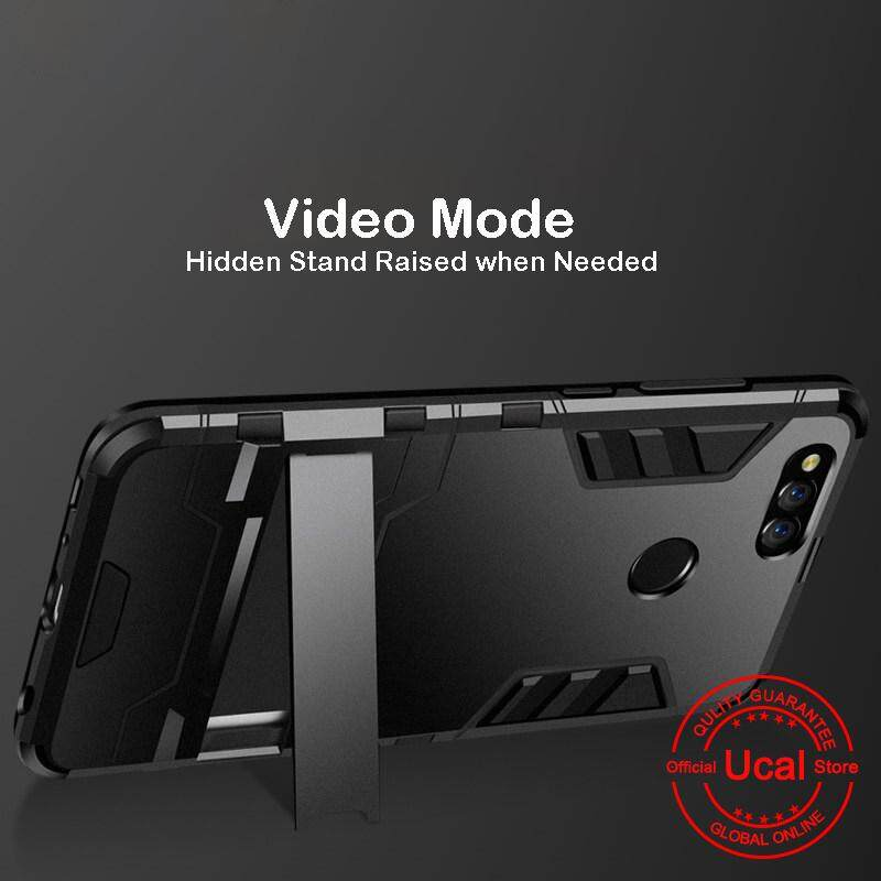 Huawei Honor 7X Phone Case, Ucal Transformer Hard Slim Casing for Huawei  Honor 7X with HD Tempered Glass