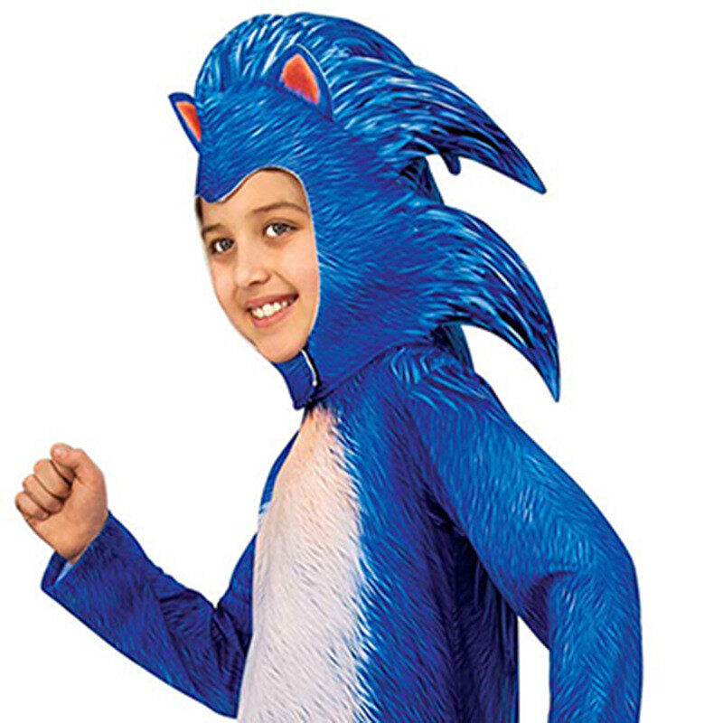Deluxe Plush Adorable Child Sonic The Hedgehog Halloween Cosplay Costume For Toddler Kids Favorite Cartoon Movie Party Dress Up Lazada Ph