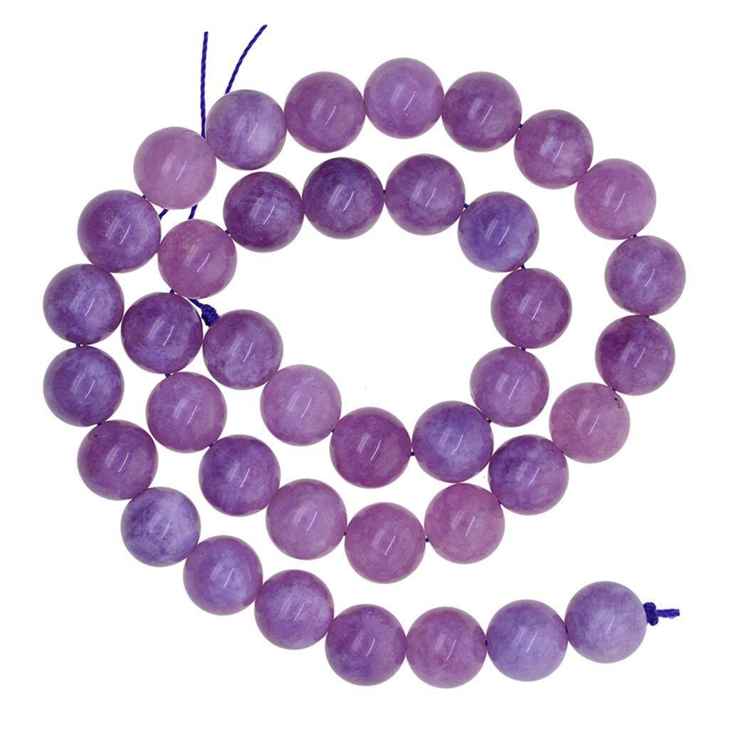6-8 mm  Purple Jade Gemstone Round Loose Bead 15 /'/'