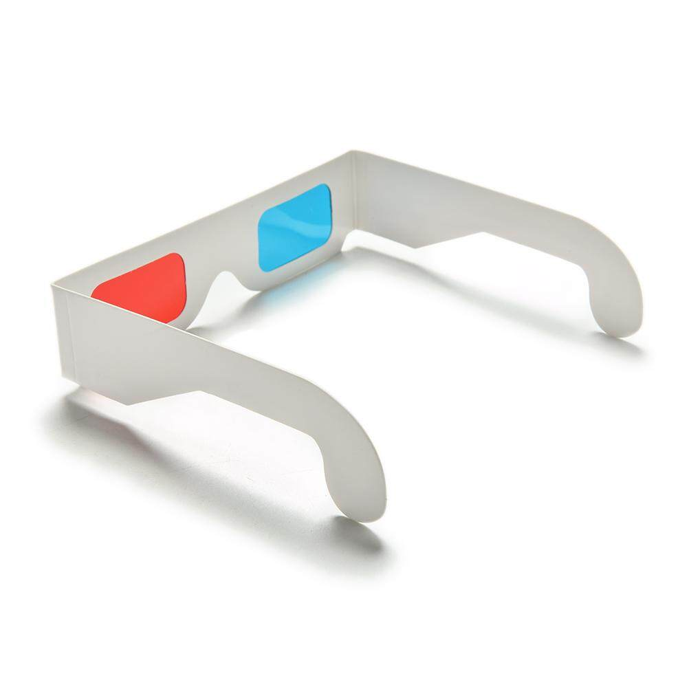 10PCS Universal Anaglyph Cardboard Paper Red Blue Cyan 3D Video Glasses