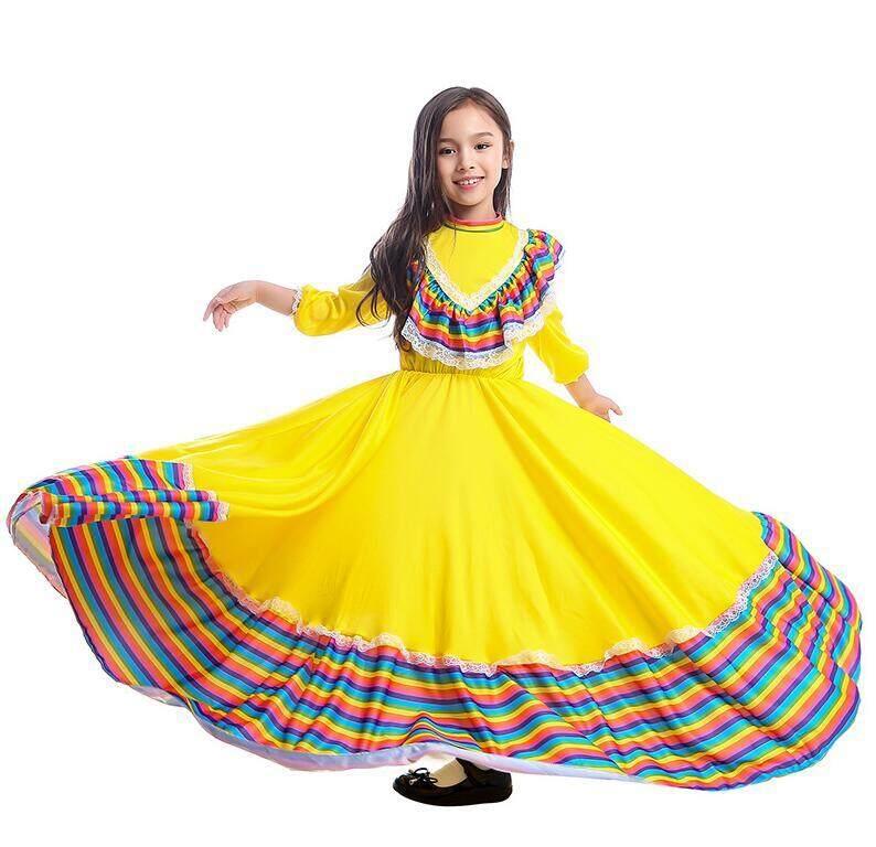 Großhandel Hochwertige Kleine Mädchen Mexikanischen Kleid ...