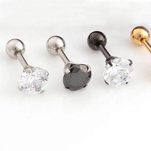 1ff5efc63 BODHI Men Women Rhinestone Cartilage Tragus Bar Helix Upper Ear ...
