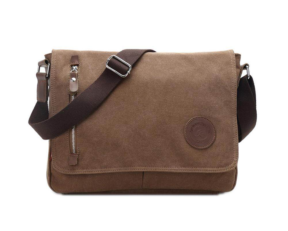 New Men/'s Vintage Canvas Schoolbag Satchel Shoulder Messenger Bag Laptop Bags