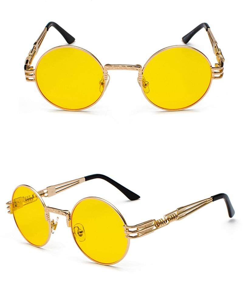 d39527d35 Peekaboo vintage retro gothic steampunk mirror sunglasses gold and black  sun glasses vintage round circle men UV gafas de sol. 0 0- 1 2 4 6 12 ...