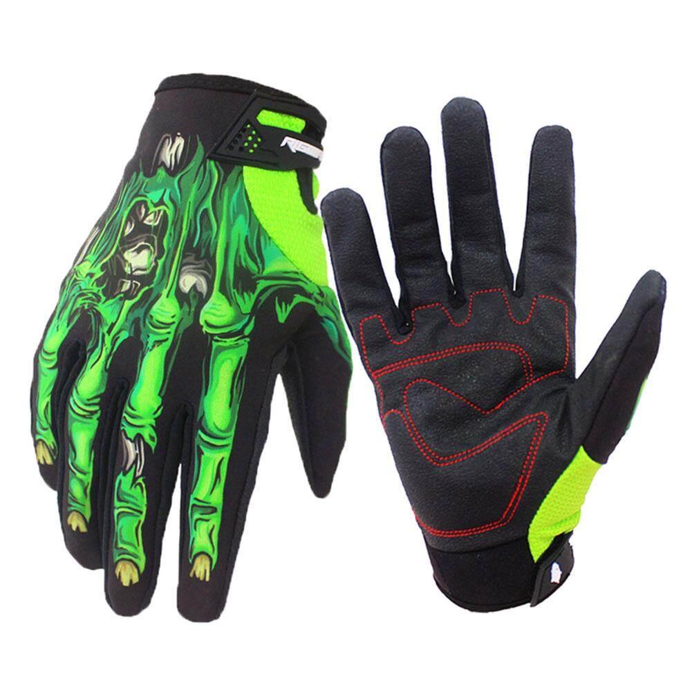 Product details of Full Finger Knight Flower Skeleton Printed Hand Gloves 3d Skull Gloves