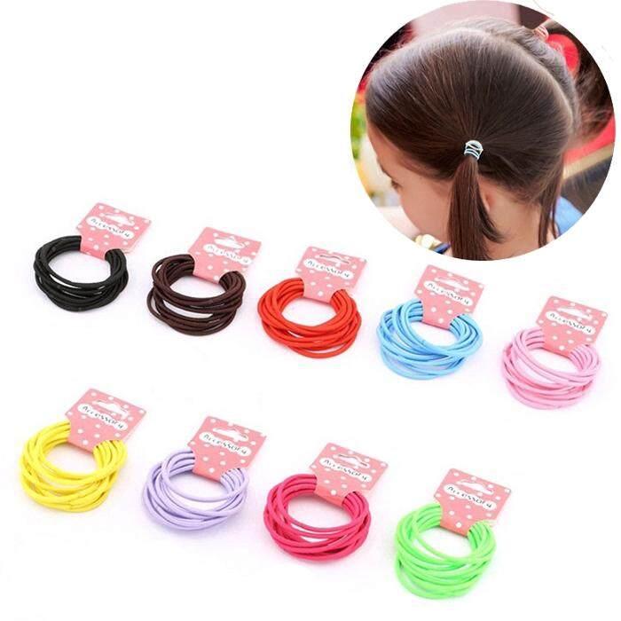 100Pcs Lot Kids Girl Elastic Rope Hair Ties Ponytail Holder Head Band Hairbands#