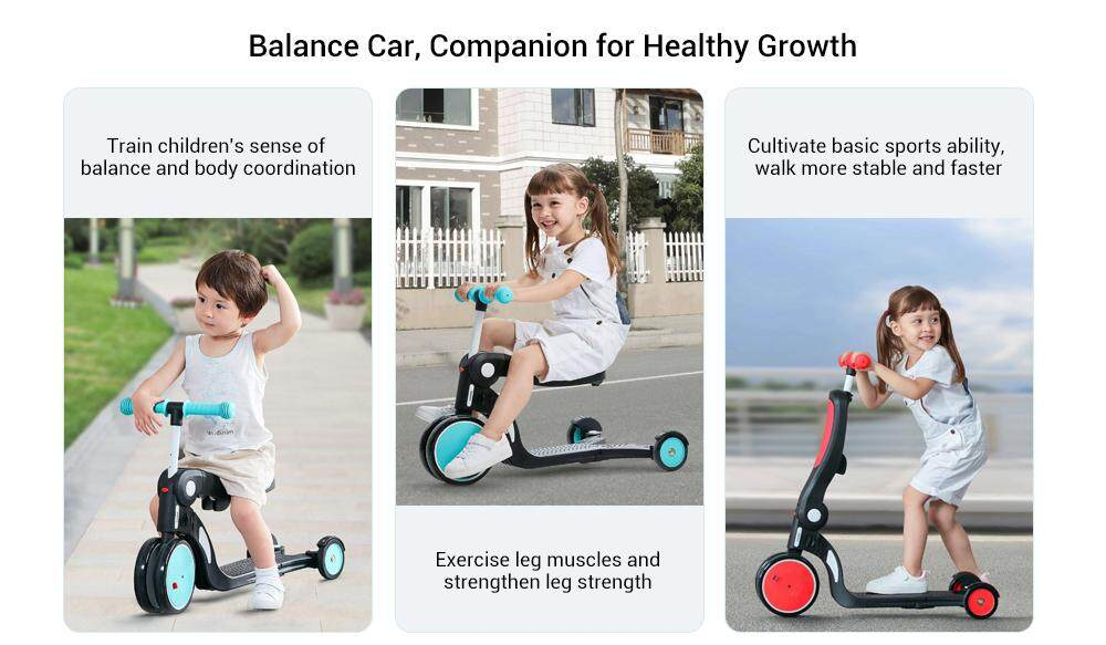 bebehoo 5-in-1 Multi-function Deformation Baby Balance Car from Xiaomi youpin